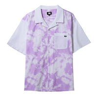 Tie Dye Button Up - White/Lavender