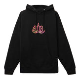 TSNMI Lotus Hooded Pullover Sweatshirt Black
