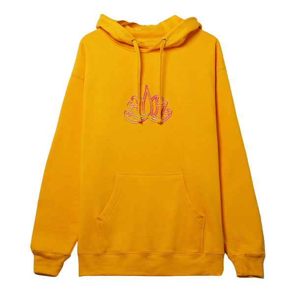 TSNMI Lotus Hooded Pullover Sweatshirt Gold