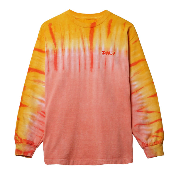 TSNMI Tie Dye Longsleeve T-Shirt Orange/Peach