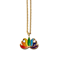 TSNMI Rainbow Lotus Flower Necklace