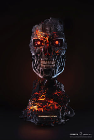 Terminator 2 Battle Damaged T-800 Art Mask - EXCLUSIVE EDITION