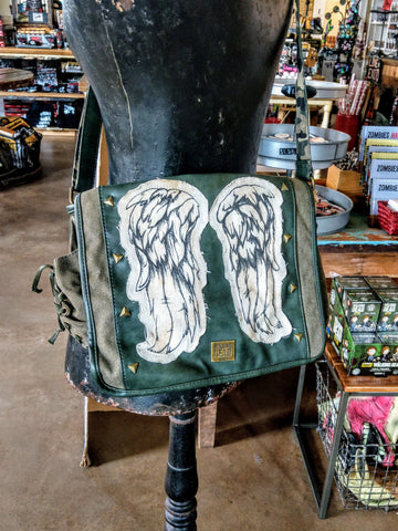 Daryl Wings Mini Messenger Bag - Fatigue Green