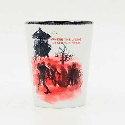 Where the Living Stalk the Dead Shot Glass