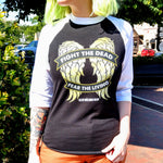 Wings Baseball Tee - Fight The Dead, Fear The Living