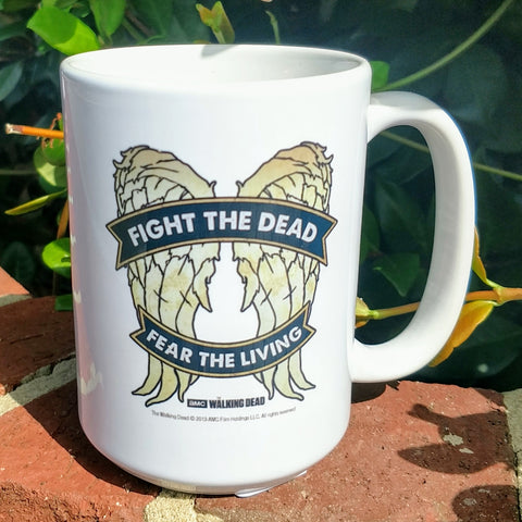 Fight the Dead, Fear the Living Wings Mug