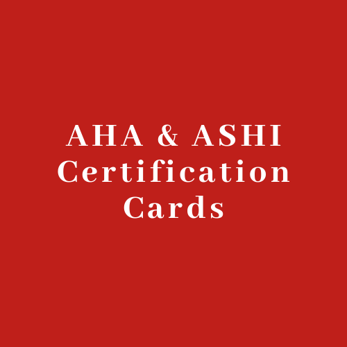 CERTIFICATION CARDS