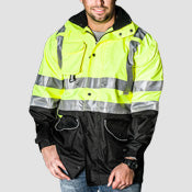 GAME Black Bottom 6 In 1 HI VIZ Jacket- 1355