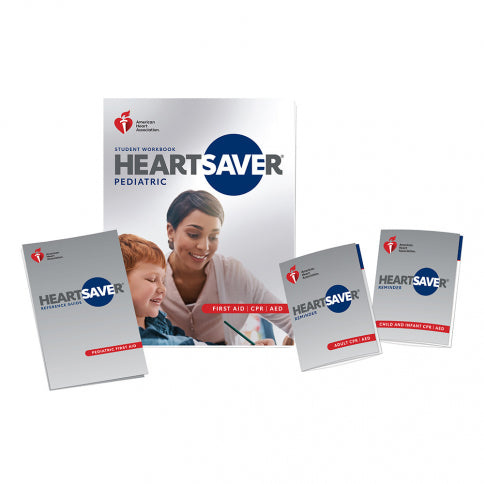New! 2020 AHA Heartsaver® PEDIATRIC First Aid CPR AED Student Workbook. Now available for purchase as a Single or a Bundle of 6.