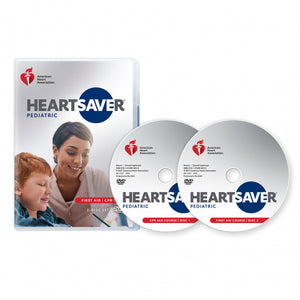New!  2020 AHA Heartsaver® Pediatric First Aid CPR AED DVD Set