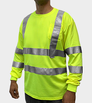 Game Deluxe Long Sleeve Class 3 Hi-Viz Tee- 2299
