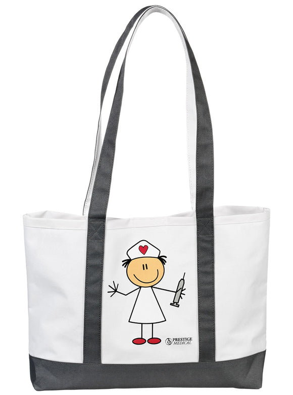 Stick Figure Nurse Tote Bag