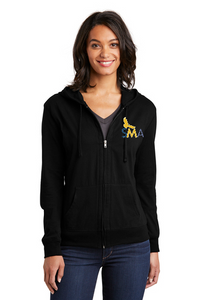 SMA District ® Ladies Fitted Jersey Full-Zip Hoodie- DT2100