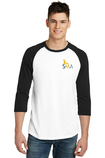 SMA District® Very Important Tee® 3/4-Sleeve Raglan- DT6210