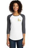 SMA District® Ladies Fitted Very Important Tee® 3/4-Sleeve Raglan-DT6211