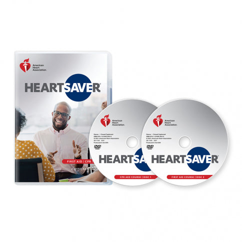 New!  2020 AHA Heartsaver® First Aid CPR AED DVD Set