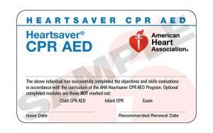 Heartsaver CPR AED Course Completion eCard-15-3004