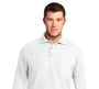 Men's Long Sleeve Silk Touch Polo- K500LS
