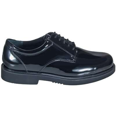 Thorogood Men's Black High Gloss Academy Oxford Shoes- 831-6031