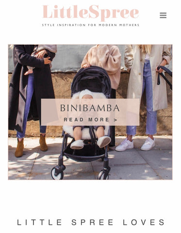 BINIBAMBA featured on little spree blog with a lovely write up about the new baby brand and our sheepskin buggy liners for babies