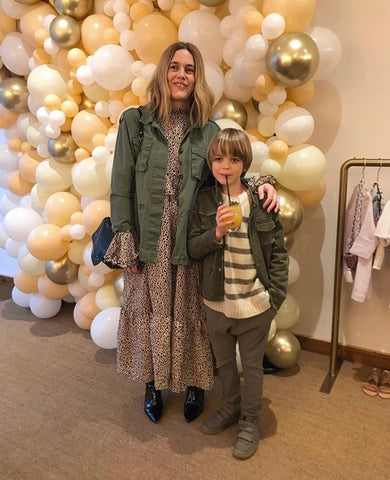 Sarah Clark of little spree and her son