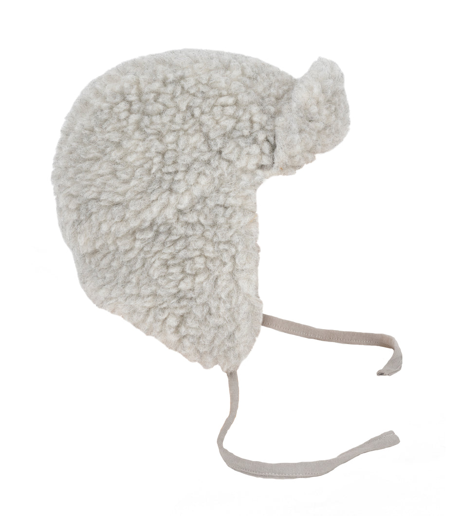Binibamba merino baby hat in cloud grey