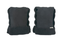 Load image into Gallery viewer, Binibamba sheepskin buggy mittens in black
