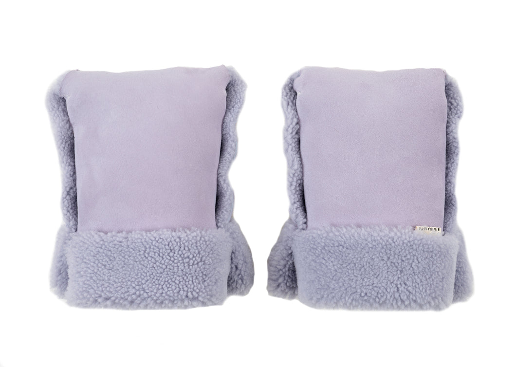 Parmaviolet sheepskin buggy gloves