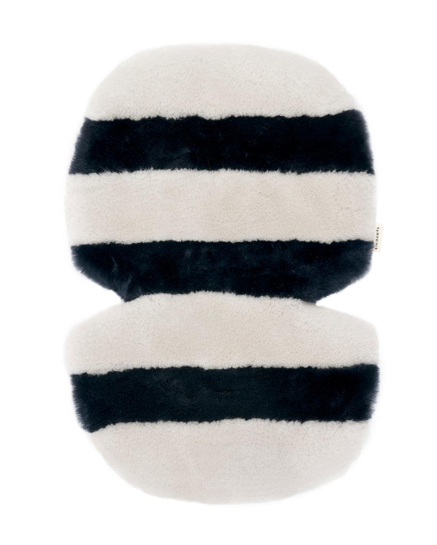 Stripe Sheepskin Buggy Liners