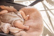 Load image into Gallery viewer, Sheepskin Buggy Liners In Rose Pink, Universal Fit For All Prams, Car Seats & Moses Baskets And Made In England.