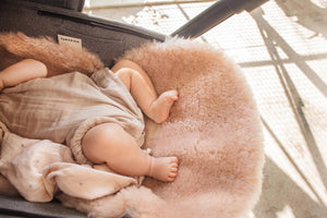 Sheepskin Buggy Liners In Rose Pink, Universal Fit For All Prams, Car Seats & Moses Baskets And Made In England.