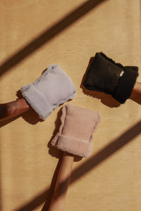 binibamba sheepskin buggy gloves, easy fit & universal fit for any pram, pushchair or buggy