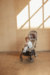 SHEEPSKIN PRAM LINER IN TOAST BY BINIBAMBA