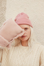 Load image into Gallery viewer, rose pink sheepskin buggy gloves by binibamba
