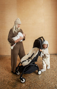 binibamba sheepskin pram liner in natural milk