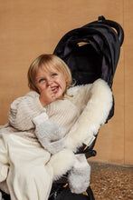 Load image into Gallery viewer, milk sheepskin buggy liner universal fit for any pram, buggy, bassinet or Moses basket