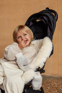 milk sheepskin buggy liner universal fit for any pram, buggy, bassinet or Moses basket
