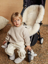 Load image into Gallery viewer, milk sheepskin pram liner
