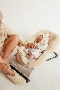 natural sheepskin buggy liner universal fit for any pushchair
