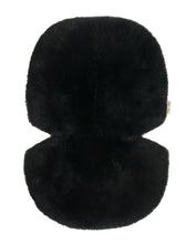 Load image into Gallery viewer, Black sheepskin buggy liners