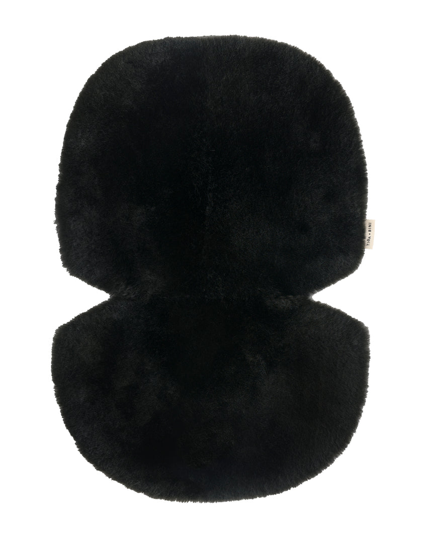 Black sheepskin buggy liners