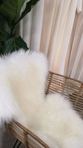 natural milk sheepskin rug by Binibamba