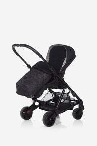 footmuff shown in buggy and pushchair