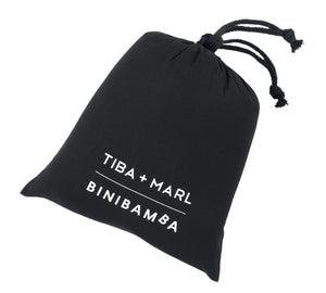 Limited edition TIBA + MARL & BINIBAMBA dustbag for sheepskin pram liner collection