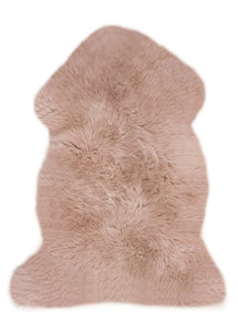 Sheepskin Nursery Rugs in Rose Colour