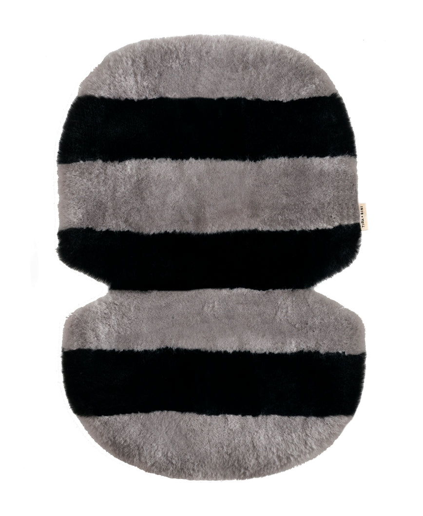Stripe Sheepskin Buggy Liner