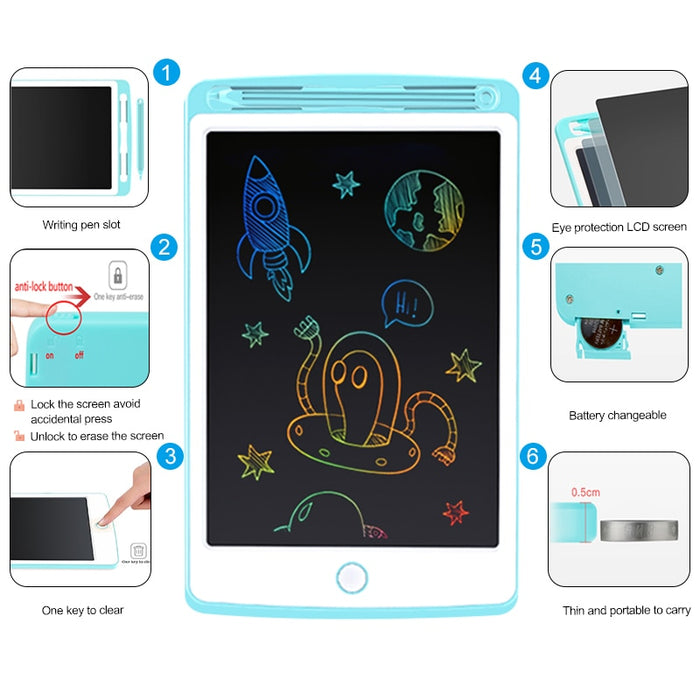 Beiens 8.5-10inch LCD Drawing Tablets Toys Handwriting Pad Early Educational Drawing Board for Kids Writing Board Child Gift
