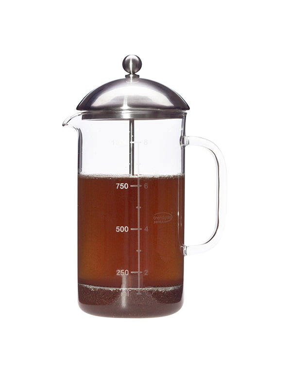 Trendglas Jena French Press, Kaffeebereiter aus Glas (1000 ml)