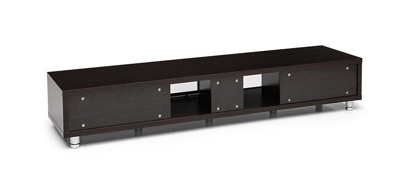Red Apple Media Cabinet Black Oak Finish