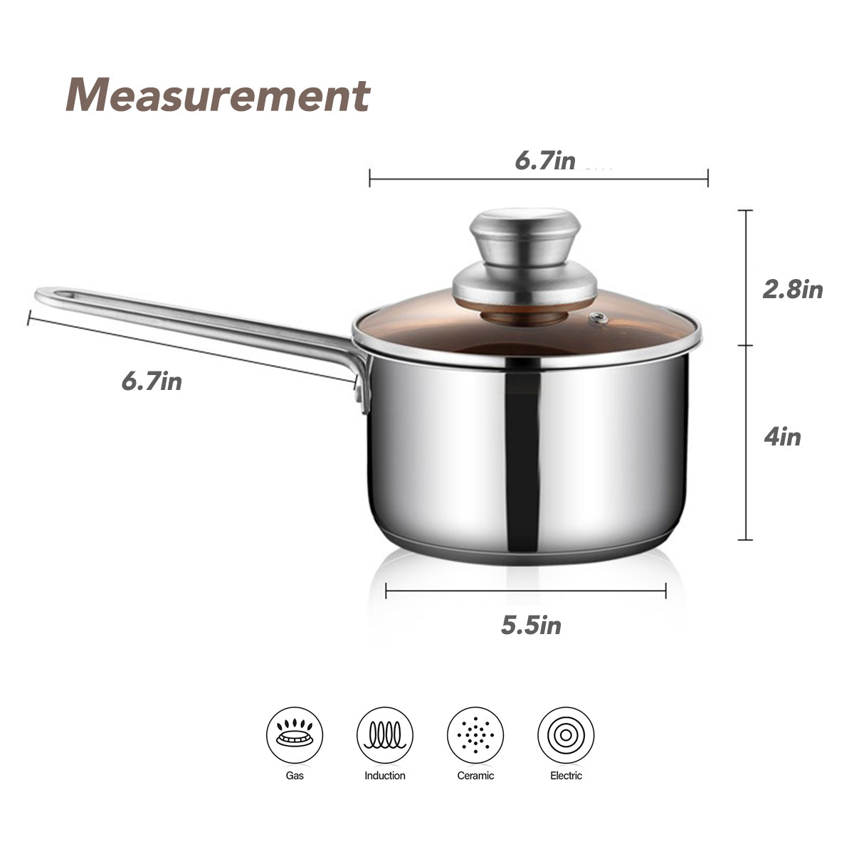 JBL 18cm Stainless Steel Milk Pan